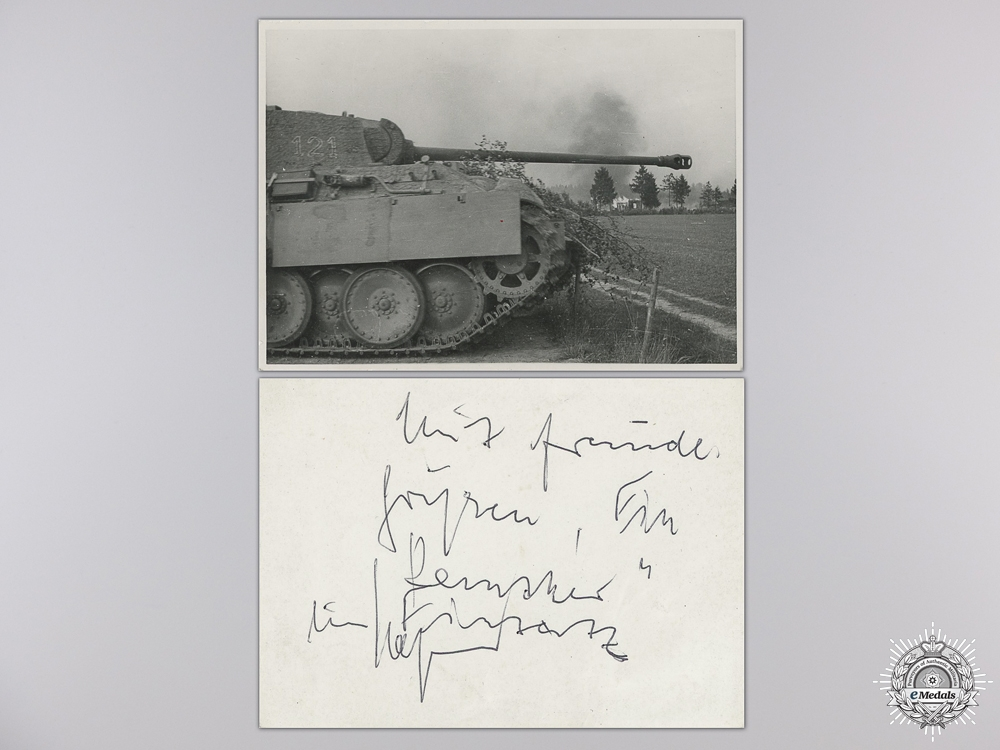 eMedals-A Post War Signed Photograph of a Knight's Cross Recipient