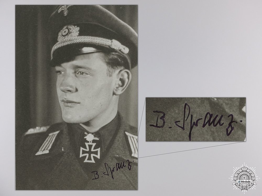 eMedals-A Post War Signed Photograph of a Knight's Cross with Oakleaves Recipient
