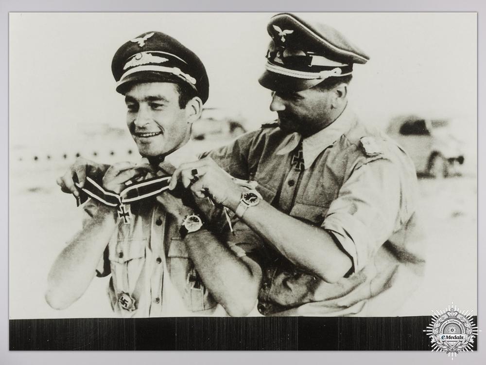 eMedals-A Post War Signed Photograph of Knight's Cross Recipient; Kurt Kuhlmey