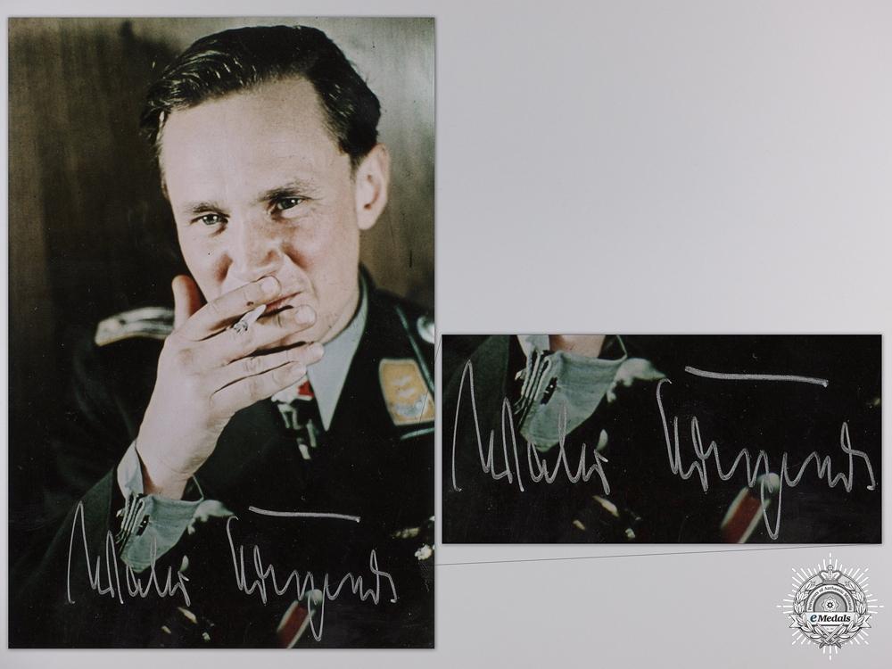 eMedals-A Post War Signed Photograph of Knight's Cross Recipient; Walter Krupinski