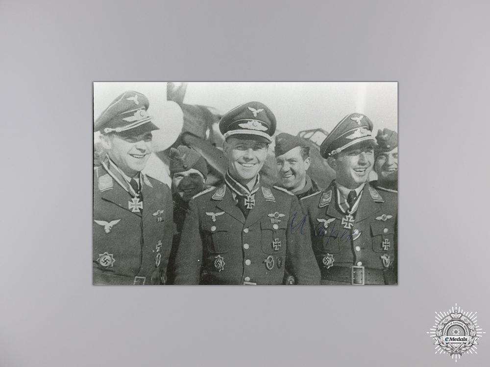 eMedals-A Post War Signed Photograph of Knight's Cross Recipient; Kaiser