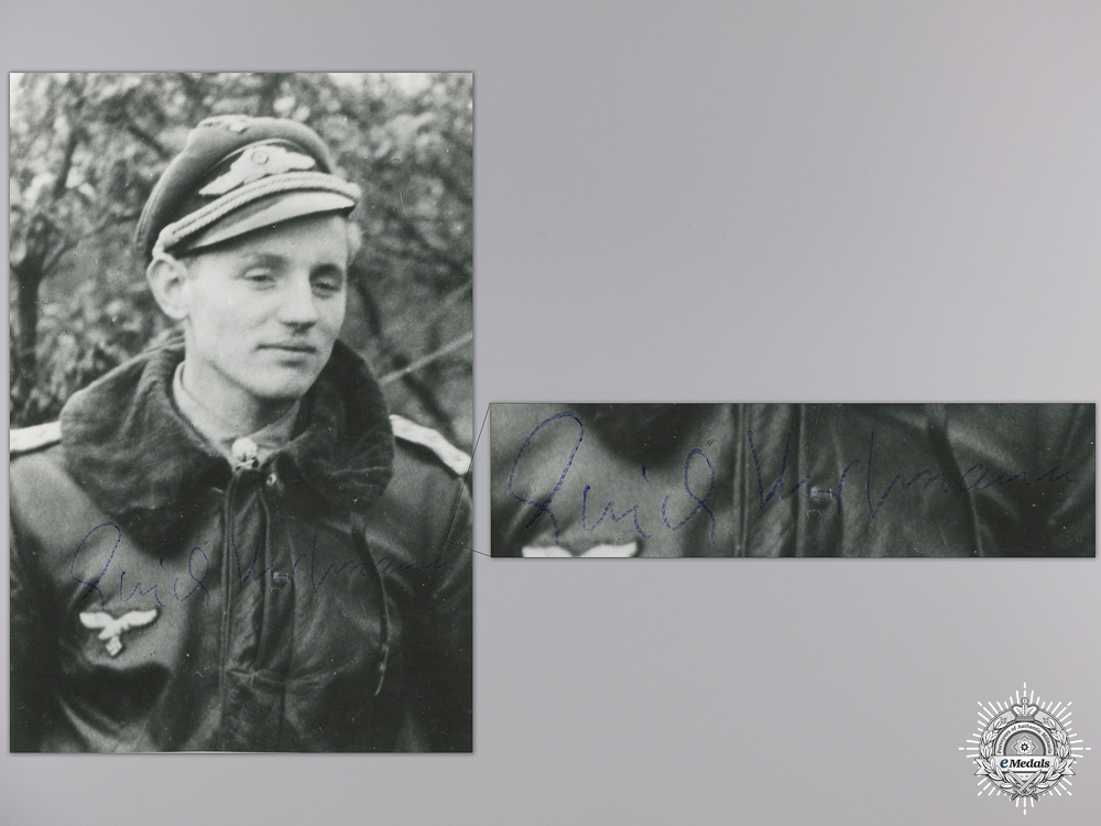 eMedals-A Post War Signed Photograph of Knight's Cross Recipient; Hartmann