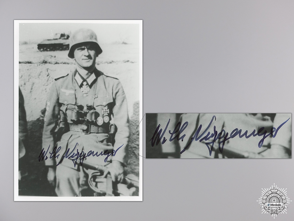 eMedals-A Post War Signed Photograph of Knight's Cross Recipient; Niggemeyer