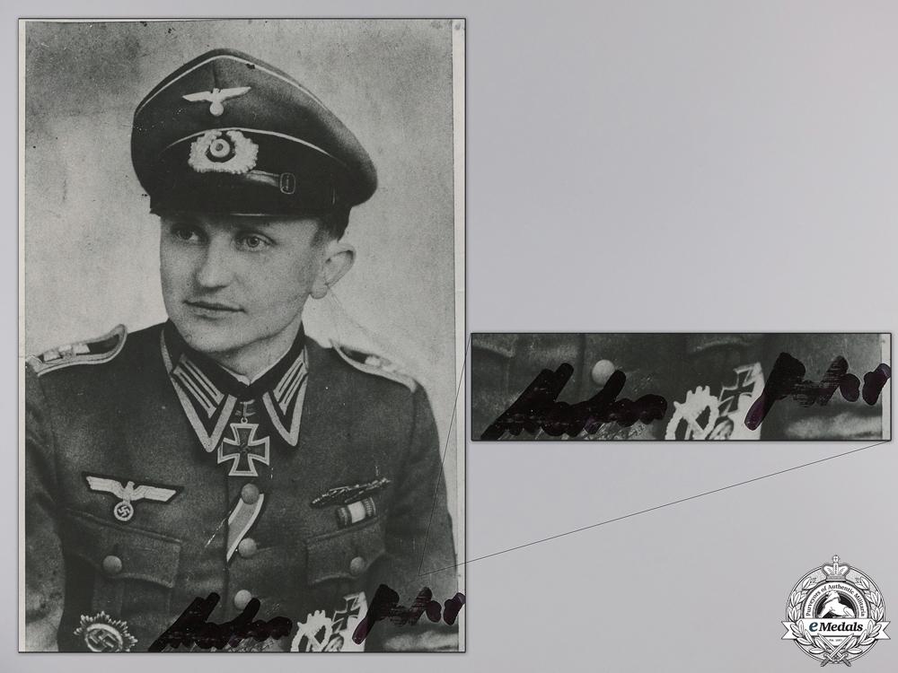 eMedals-A Post War Signed Photograph of Knight's Cross Recipient; Merten