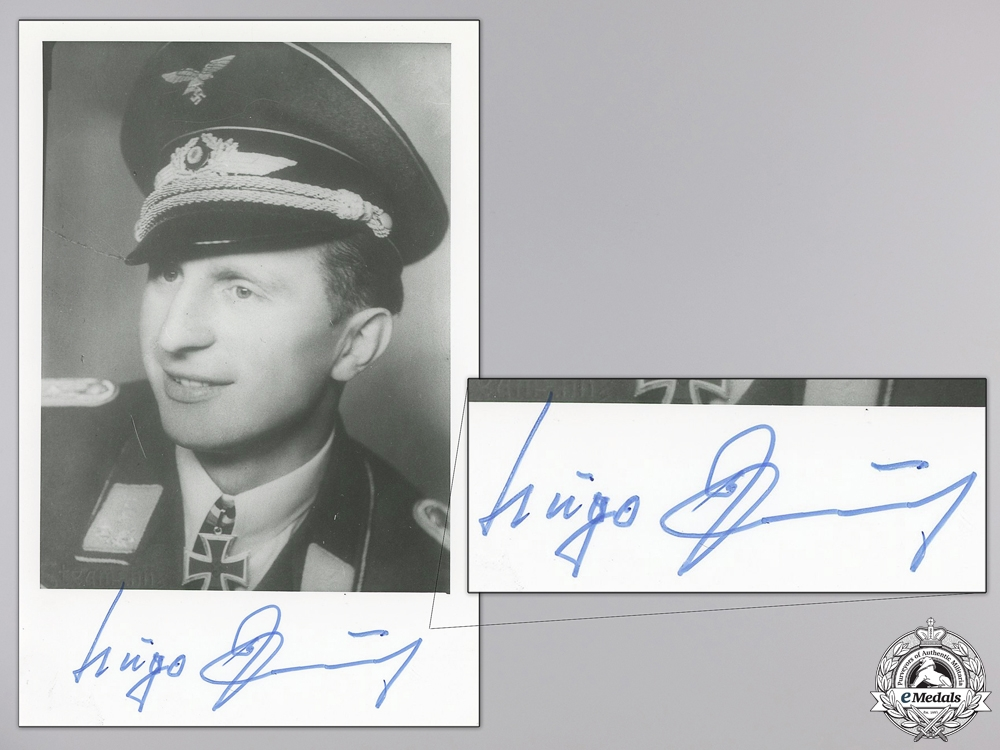 eMedals-A Post War Signed Photograph of Knight's Cross Recipient; Paul