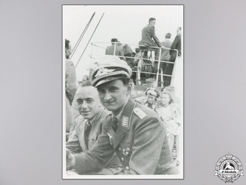 eMedals-A Post War Signed Photograph of Knight's Cross Recipient; Krems