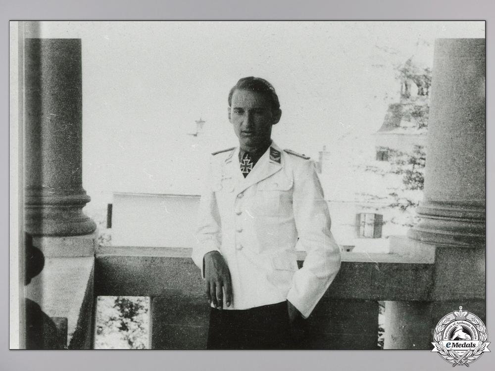 eMedals-A Post War Signed Photograph of Knight's Cross Recipient; Krems