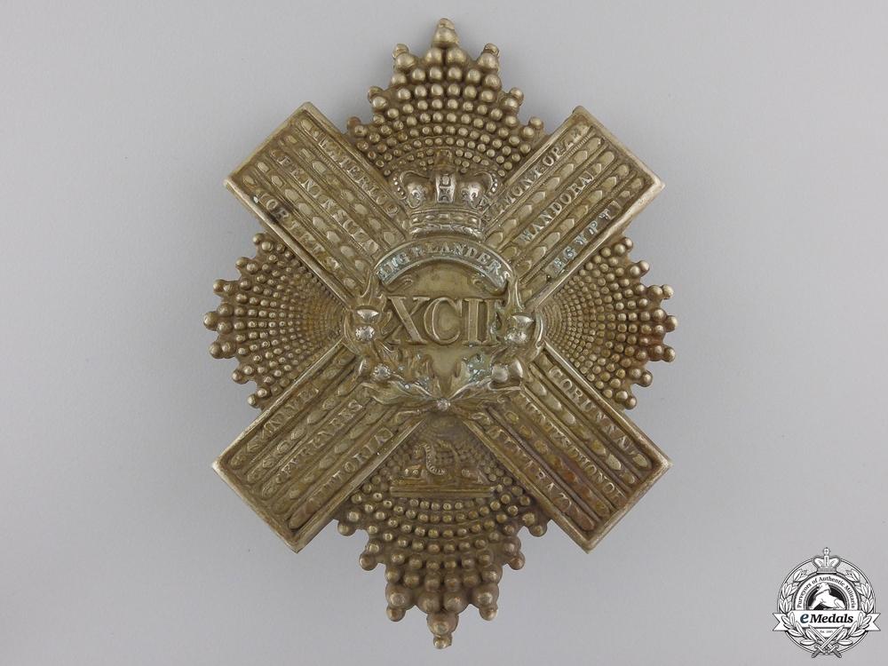 eMedals-A Pre 1881 XCII 92nd Gordon Highlanders Uniform Cross Belt Badge Plate