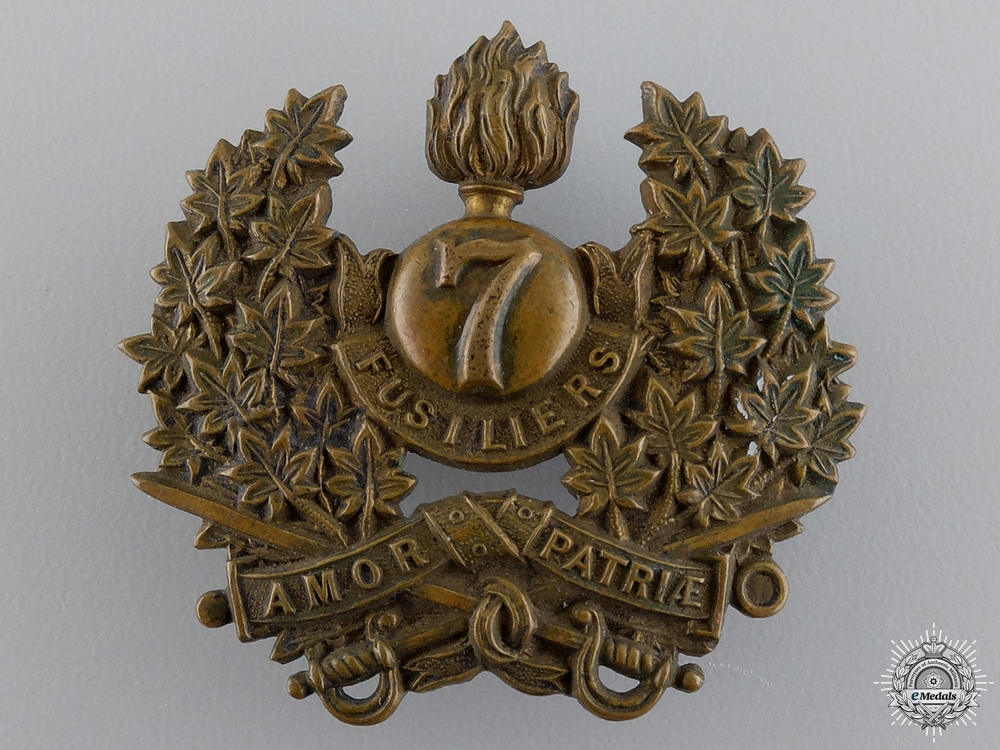 eMedals-A Pre First War 7th Fusiliers Cap Badge