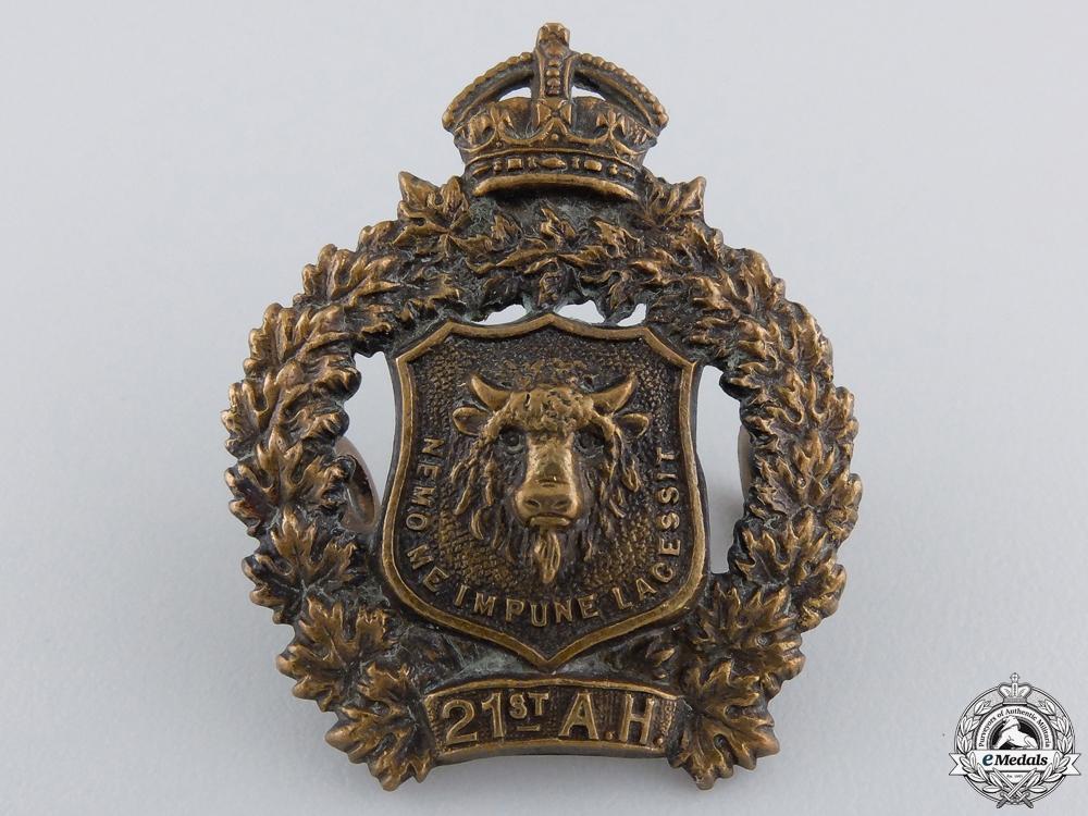 eMedals-A Pre First War 21st Alberta Hussars Collar Badge