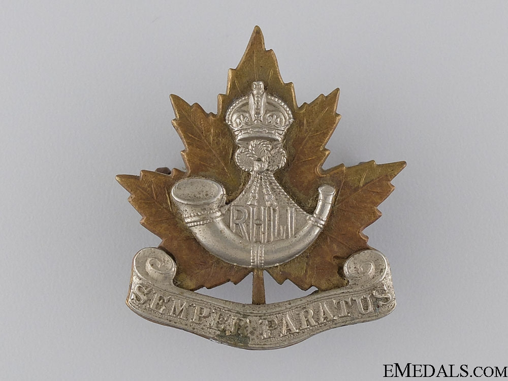 eMedals-A Pre Second War Royal Hamilton Light Infantry Cap Badge