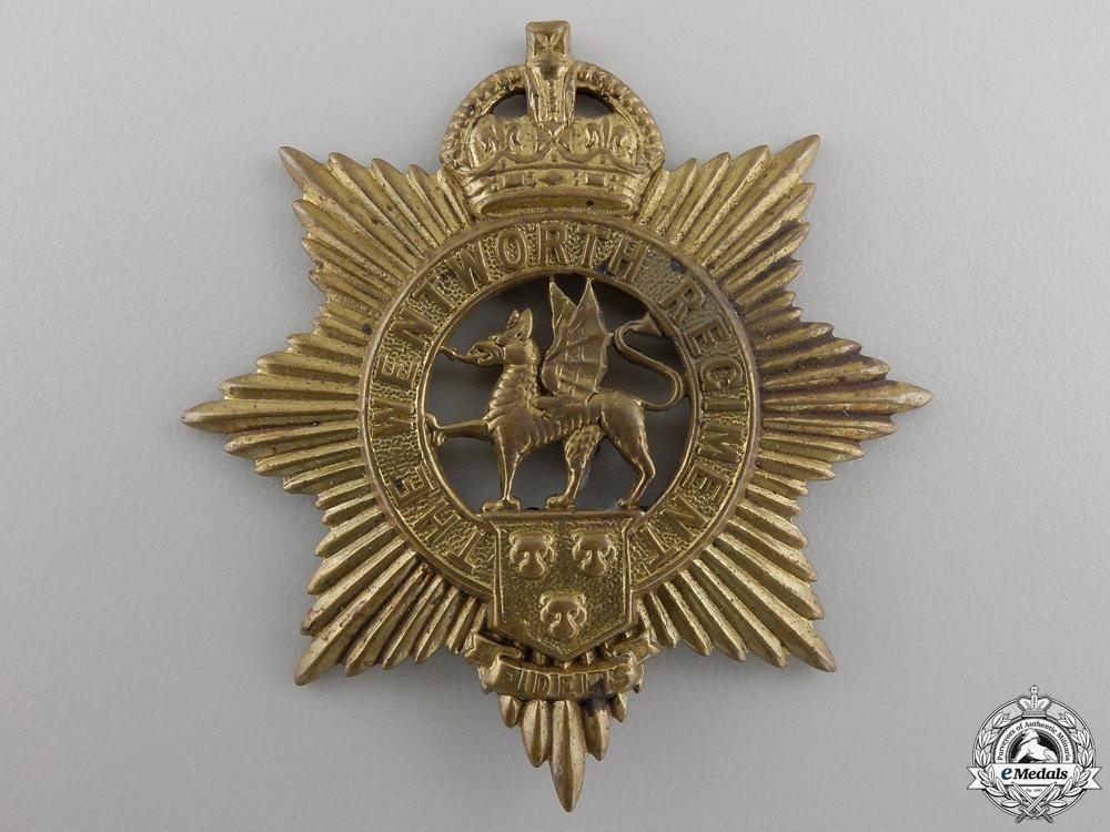 eMedals-A Pre Second War Wentworth Regiment Cap Badge