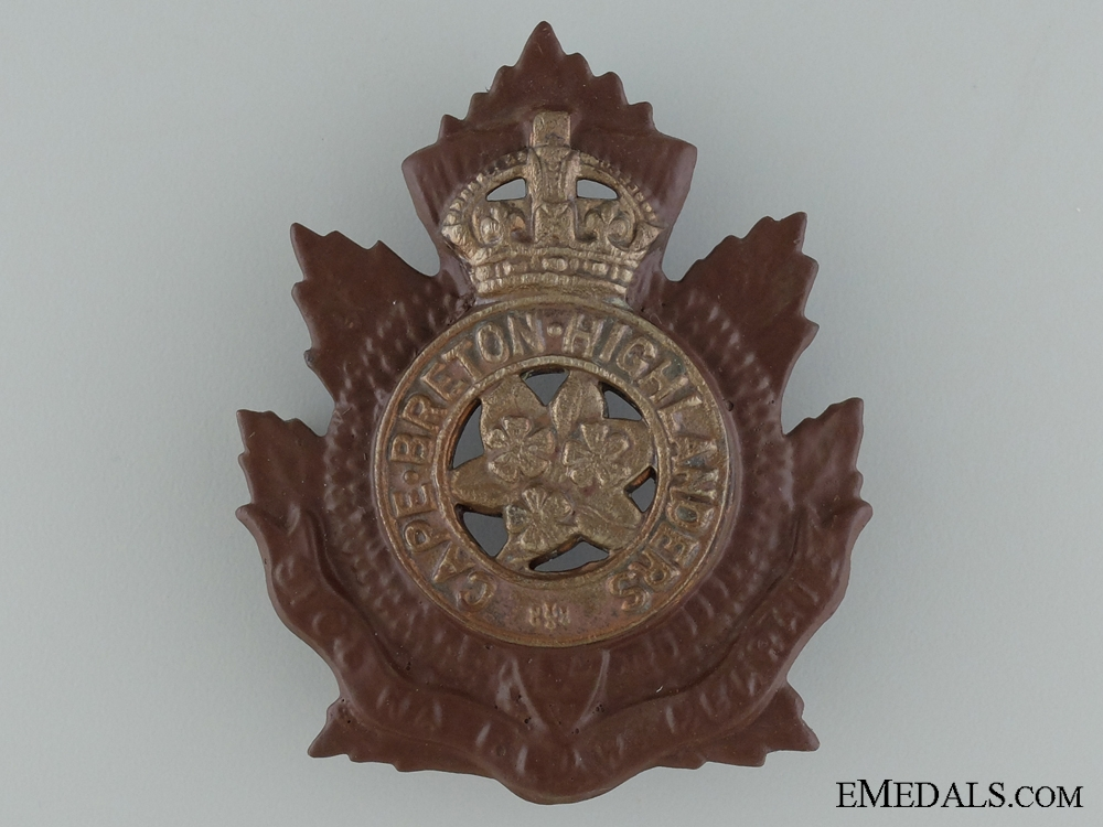 eMedals-A Pre-WWI Cape Breton Highlanders Cap Badge