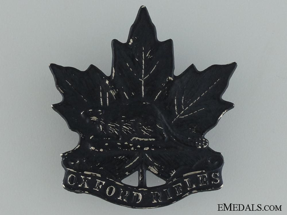 eMedals-A Pre-WWI Oxford Rifles Cap Badge