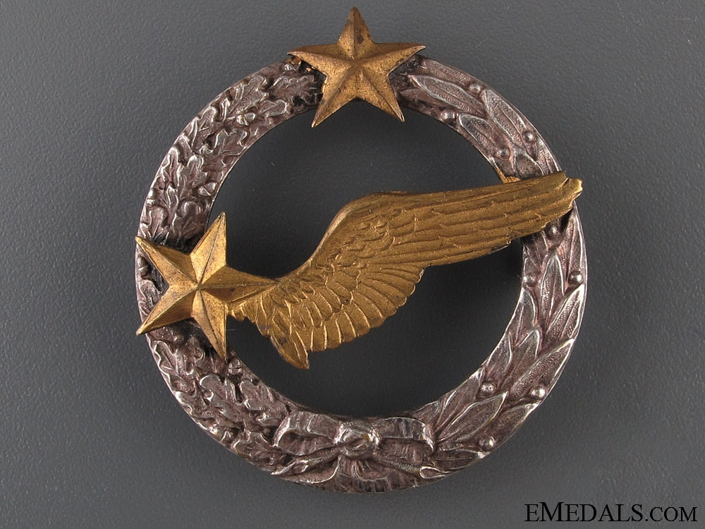 eMedals-A Pre WWII Air Force Observer's Badge