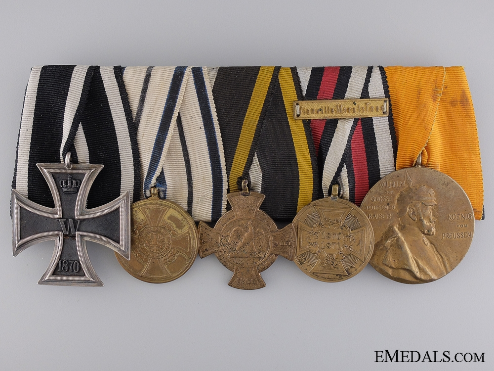 eMedals-A Prussian 1870 Iron Cross  Group of Five Awards