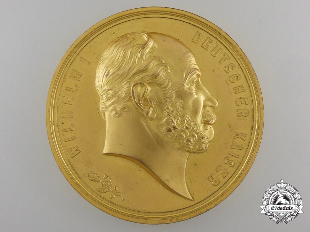 eMedals-A Prussian 25th Anniversary German Emperor at Versailles Medal 1871-1896