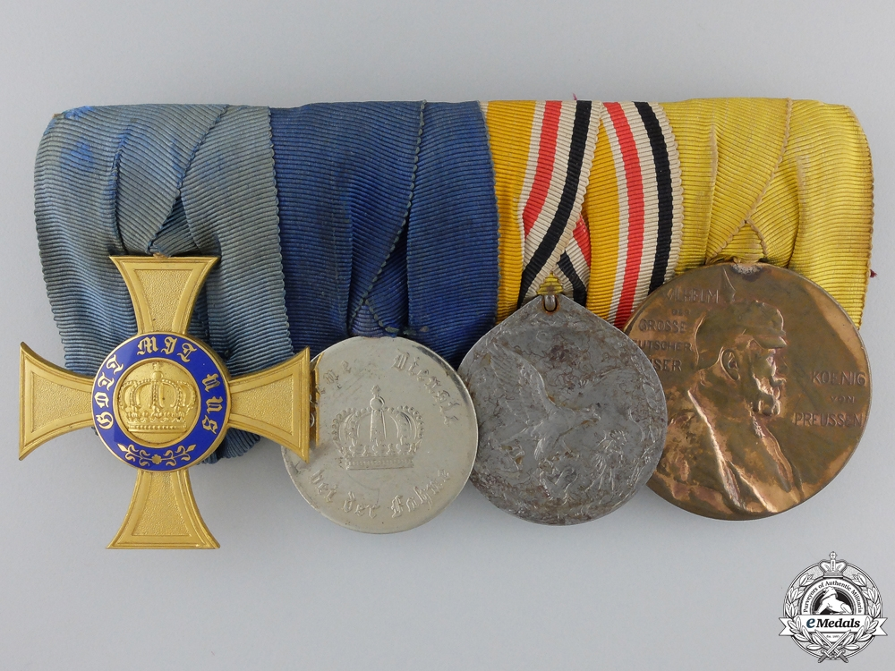 eMedals-A Prussian Crown Order & China Service Medal Bar