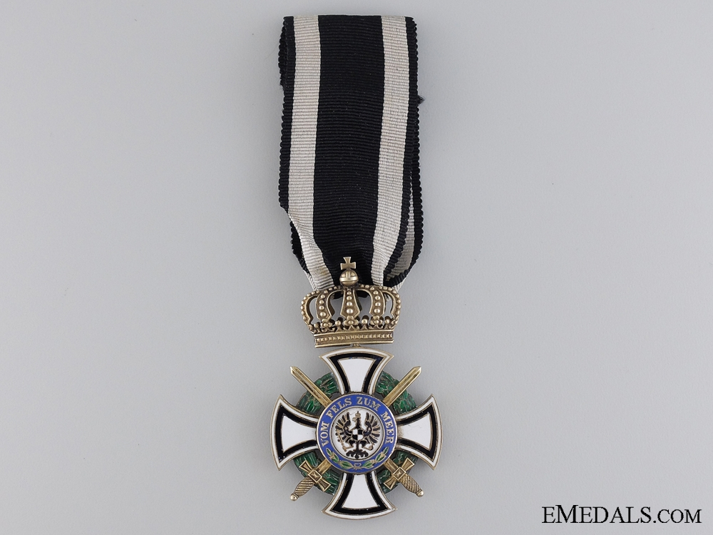 eMedals-A Prussian House Order of Hohenzollern, Knight's Cross by Godet & Söhn
