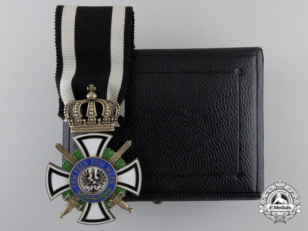eMedals-A Prussian House Order of Hohenzollern; Knight's Cross with Swords