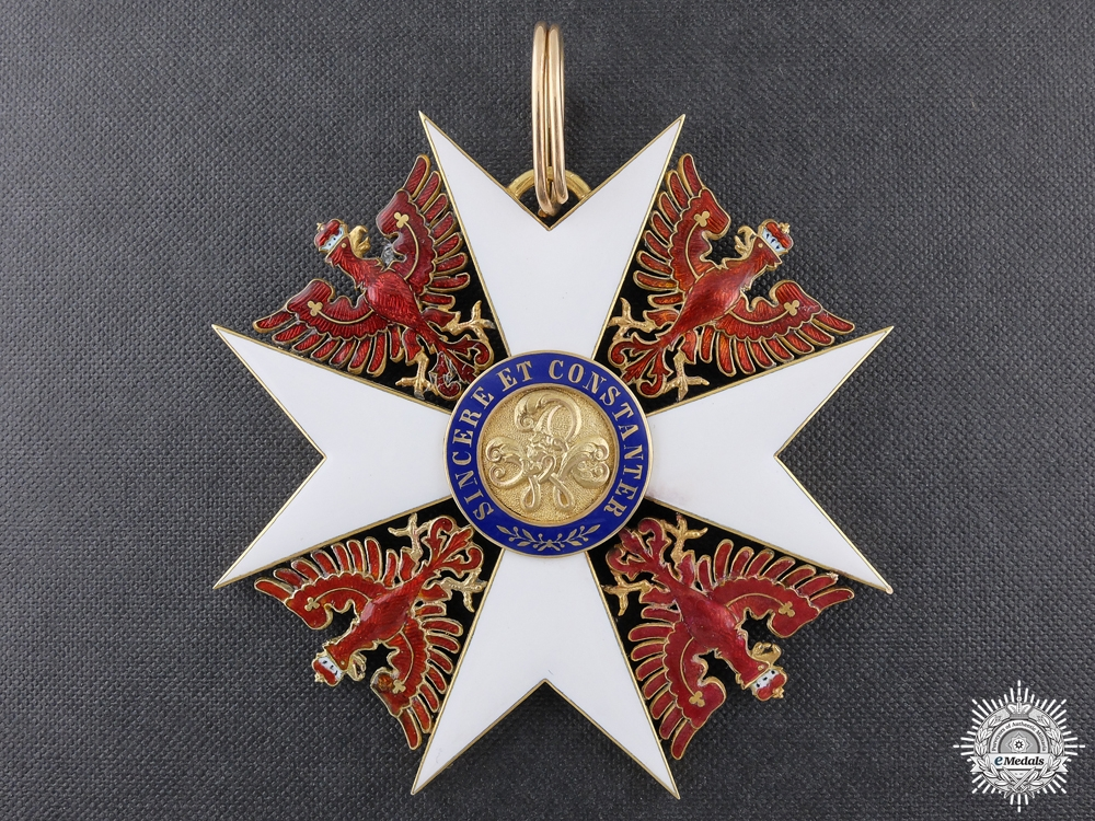 eMedals-A Prussian Order of the Red Eagle 1861-1918; Grand Cross by Humbert & Söhn