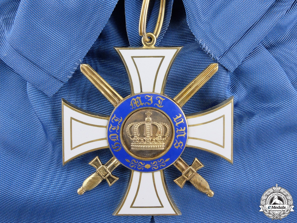 eMedals-A Prussian Order of the Crown with Swords; First Class Cross in Gold