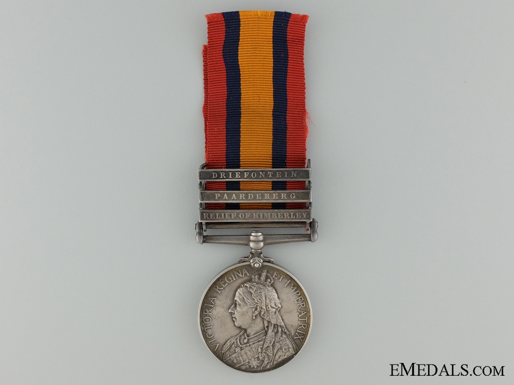 eMedals-A Queen's South Africa Medal to the West Riding Regiment; DOD