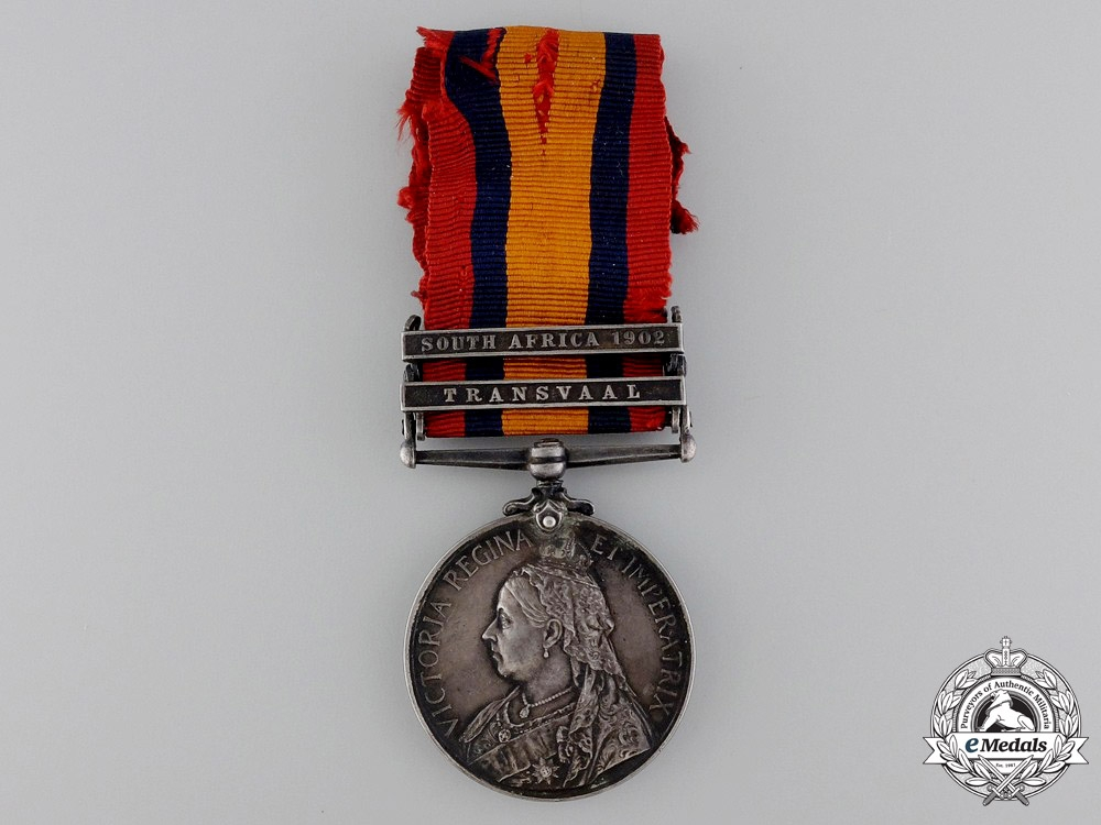 eMedals-A Queen's South Africa Medal to the Canadian Mounted Rifles