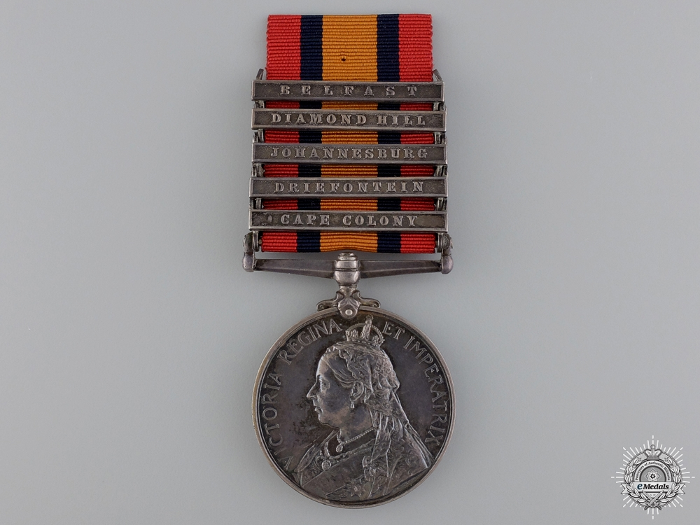 eMedals-A Queen's South Africa Medal to the Royal Field Artillery