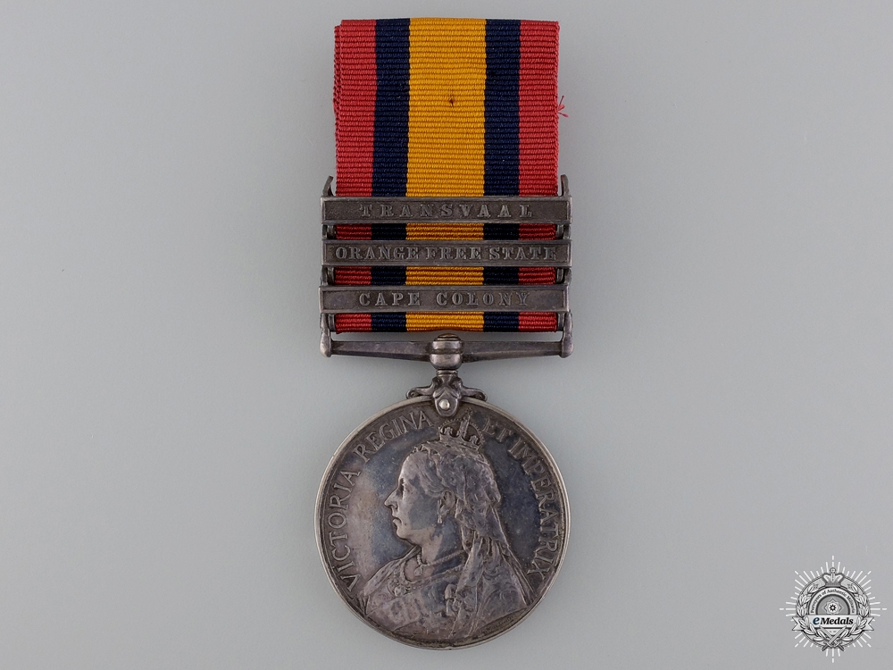 eMedals-A Queen's South Africa Medal to the 2nd Warwick Regiment