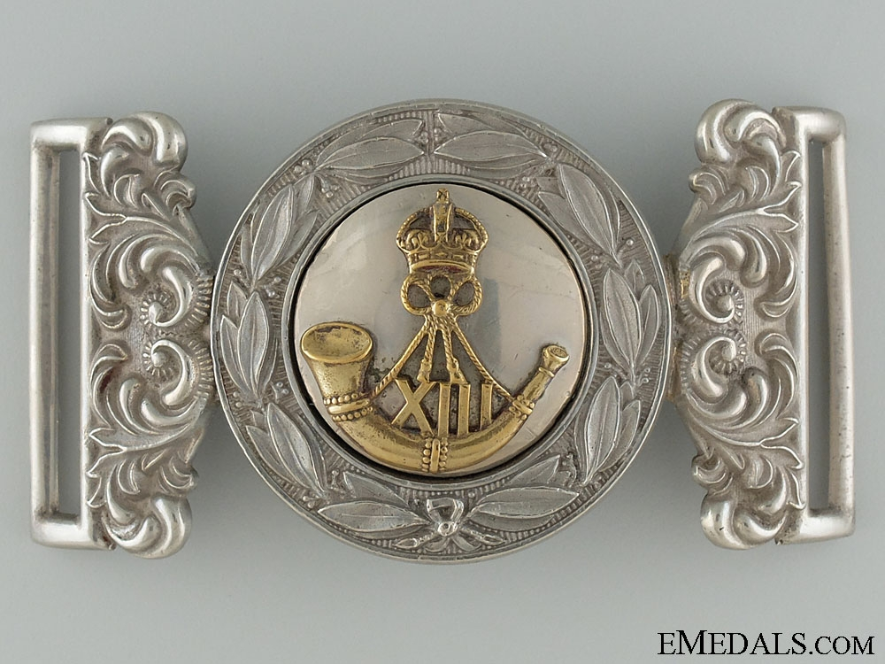 eMedals-Canada. A Rare 13th Regiment (Hamilton Light Infantry) Officer's Buckle