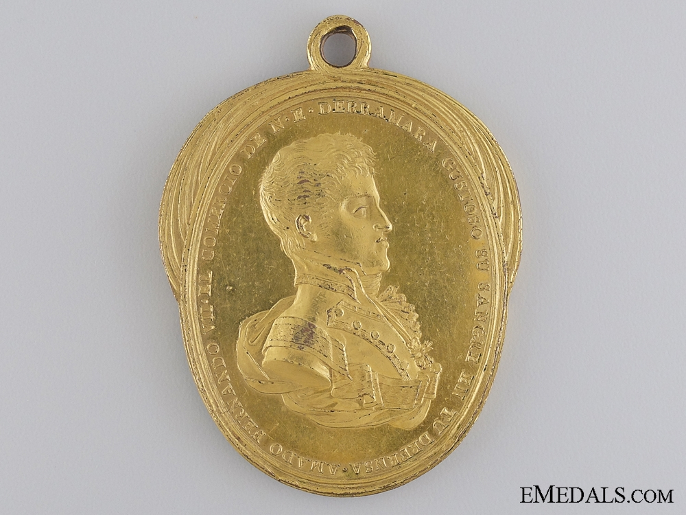 eMedals-A Rare 1809 Mexican Commercial Merit Medal
