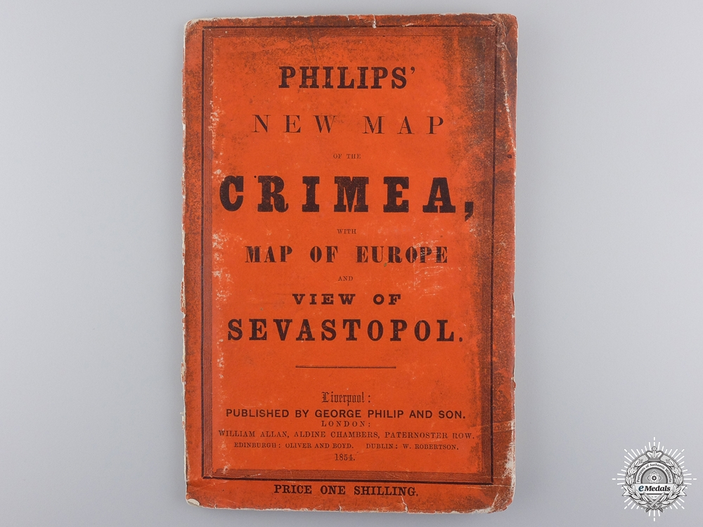 eMedals-A Rare 1854 Philips' New Map of the Crimea