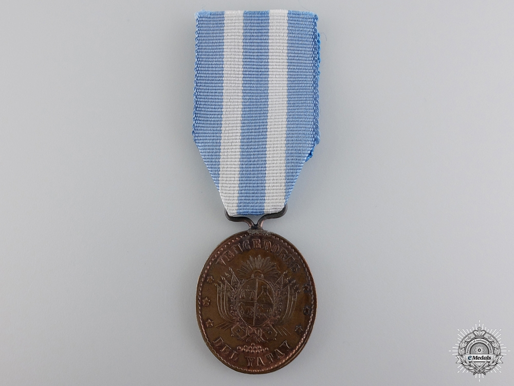 eMedals-A Rare 1865 Yatay Medal; Marked JW