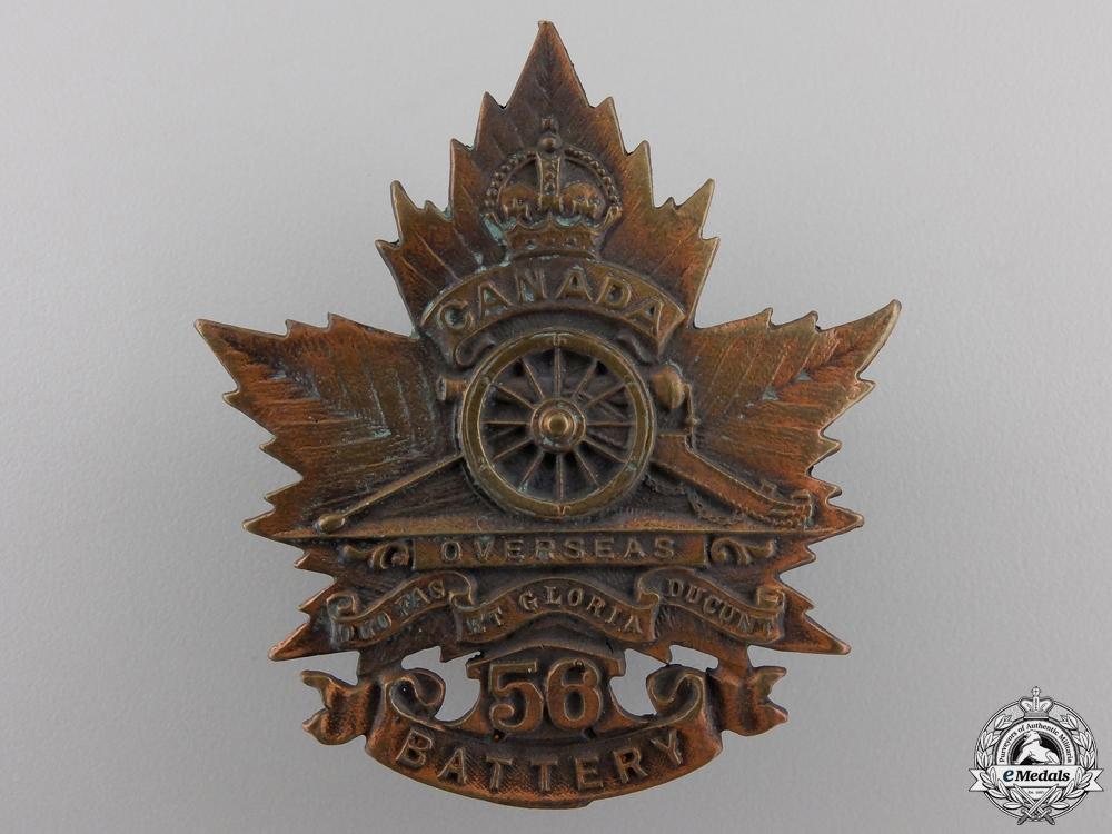 eMedals-A Rare 56th (Guelph) Overseas Field Battery Cap Badge