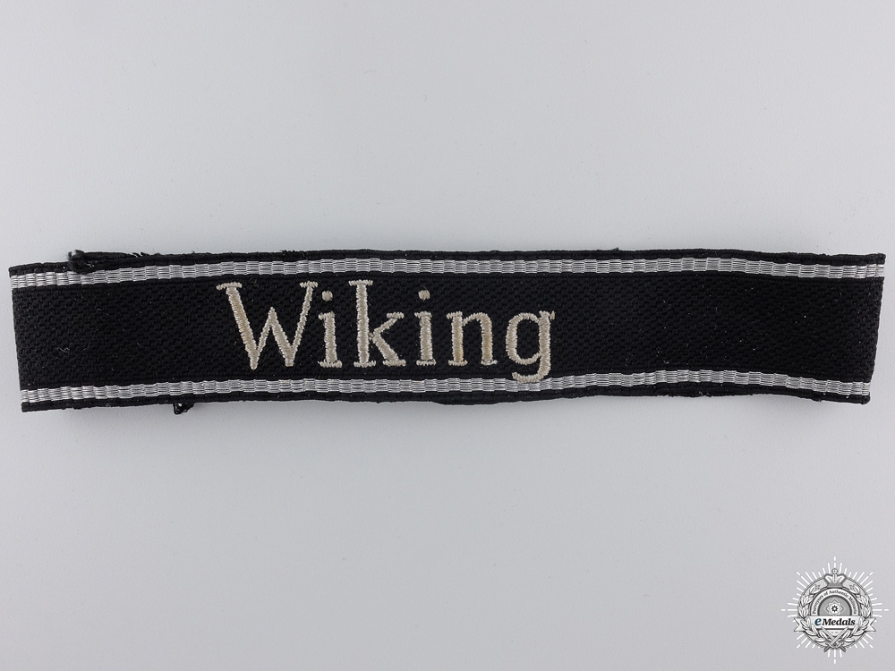 "eMedals-A Rare  ""Wiking"" EM/NCO's Cuff Title; Tunic-Removed"