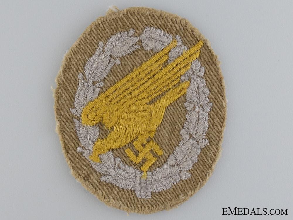 eMedals-A Rare Afrikakorps Fallschirmj¡_ger Cloth Badge