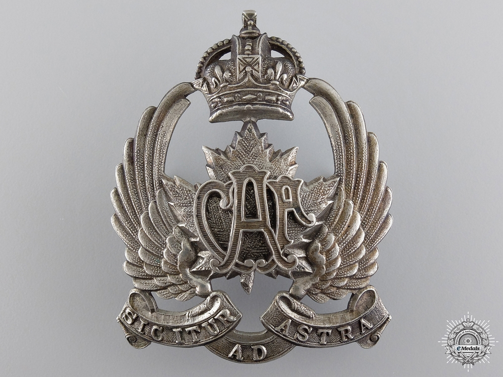 eMedals-A Rare Canadian Air Force 1920-1924 Peaked Cap Badge