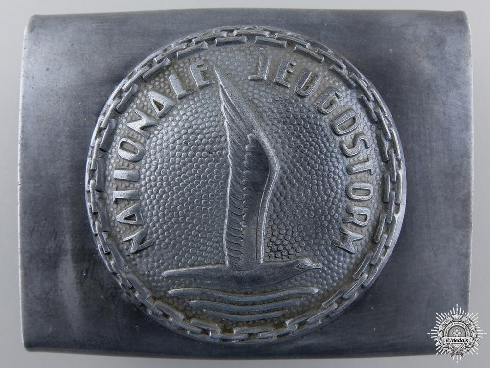 eMedals-A Rare Dutch Jeugdstorm Belt Buckle