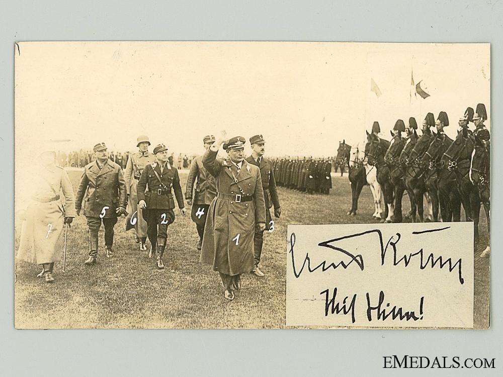 eMedals-A Rare Ernst Röhm Autograph