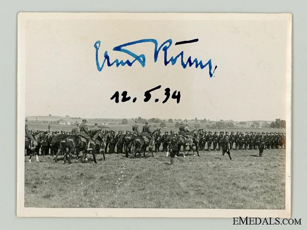 eMedals-A Rare Ernst R¡_hm Autograph