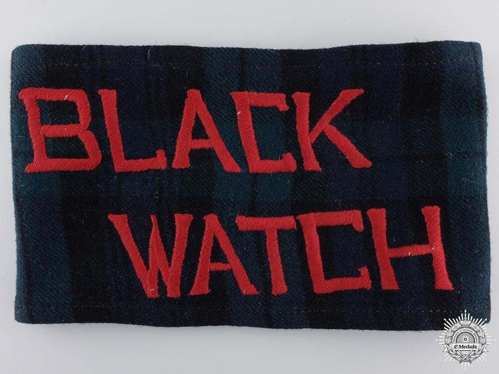 eMedals-A Rare First War Black Watch Stretcher Bearer Arm Band