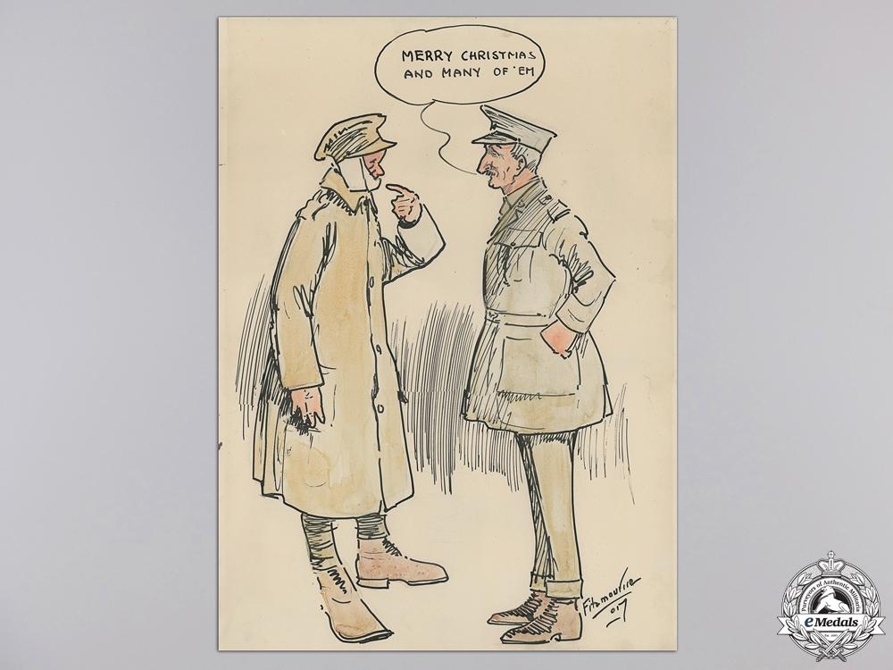 eMedals-A Rare First World War Political Cartoon by J.B. Fitzmaurice