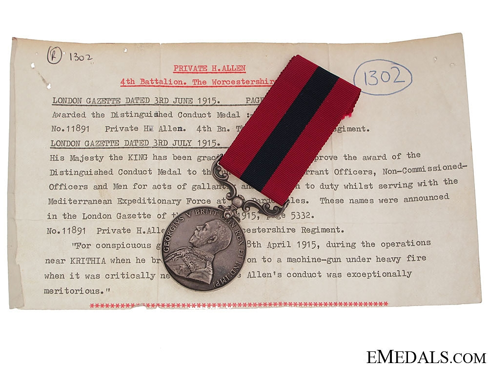 eMedals-A Rare Great War Gallipoli Operations D.C.M.