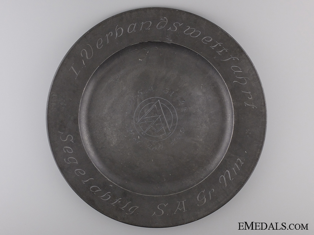 eMedals-A Rare July 1939 SA Marine Expedition Plate