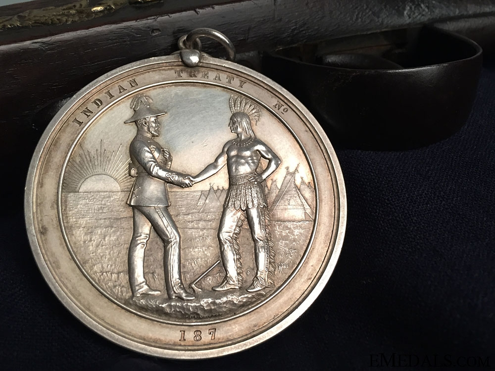 eMedals-A Rare Large 1870's Canadian Indian Peace Medal