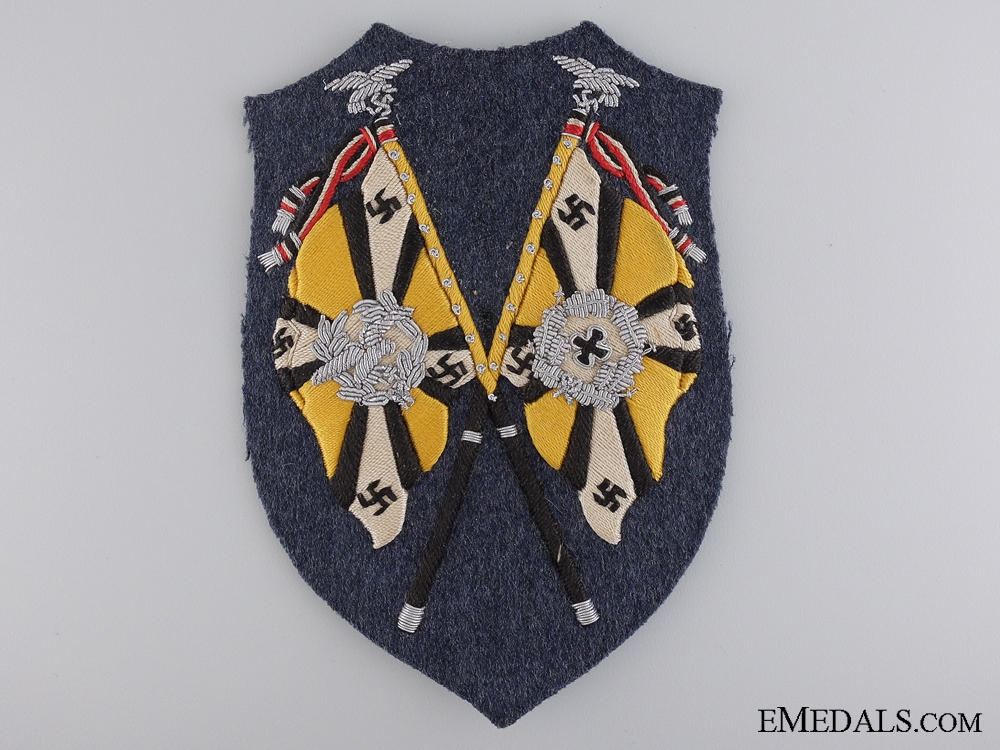 eMedals-A Rare Luftwaffe Flying Branch Units Flag Bearer's Arm Shield
