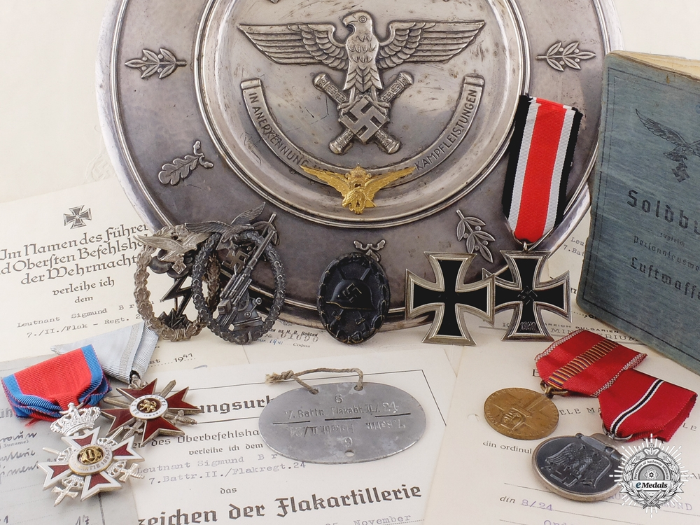 eMedals-A Rare Luftwaffe Honor Salver for Exceptional Leadership in the Field
