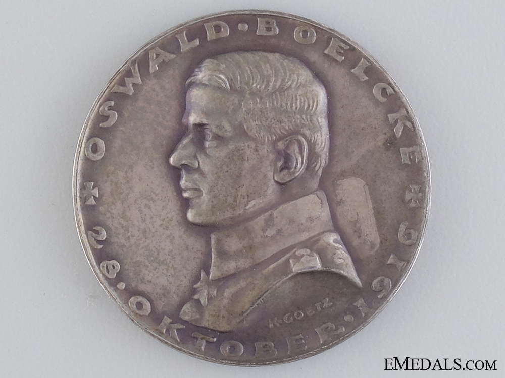 eMedals-A Rare Oswald Boelcke Silver Medal 1916