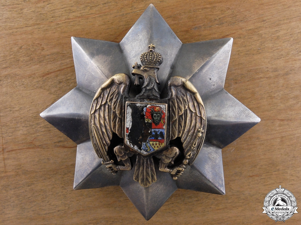 eMedals-A Rare Romanian Honour Badge of the Romanian Eagle; Breast Star